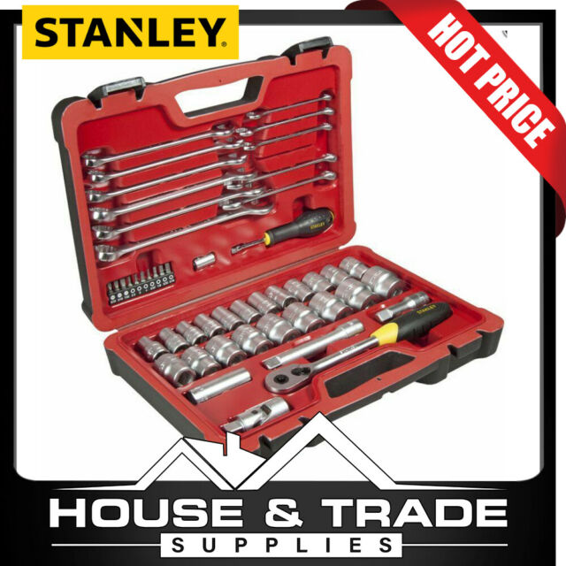 "Stanley Socket Set  Tool Set  Sockets + Spanners 50 Piece 1/2"" Dr FMHT0-73926"