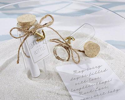 Message in a Bottle Glass Summer Beach Destination Bridal Wedding Favors