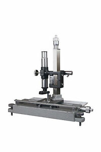 Six-Position-Physics-Linear-Travelling-Vernier-Measuring-Microscope-w-Micrometer