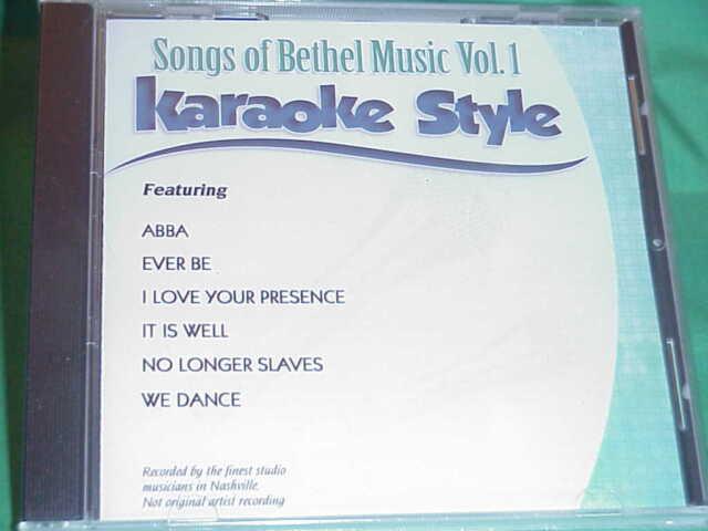 Karaoke Entertainment Songs Of Bethel Music Volume 1 Karaoke Style New Cd+g Daywind 6 Songs