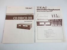 Teac CX-310 / CX-311 Cassette Deck Owners Manual and Supplement