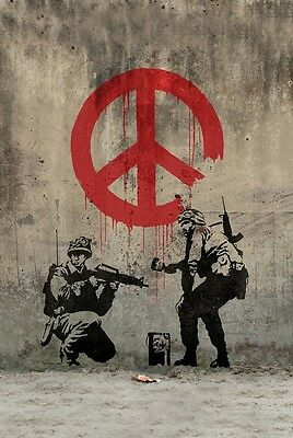 Banksy Peace Art Graffiti Artist Art Print poster (20x13inch) Decor 01
