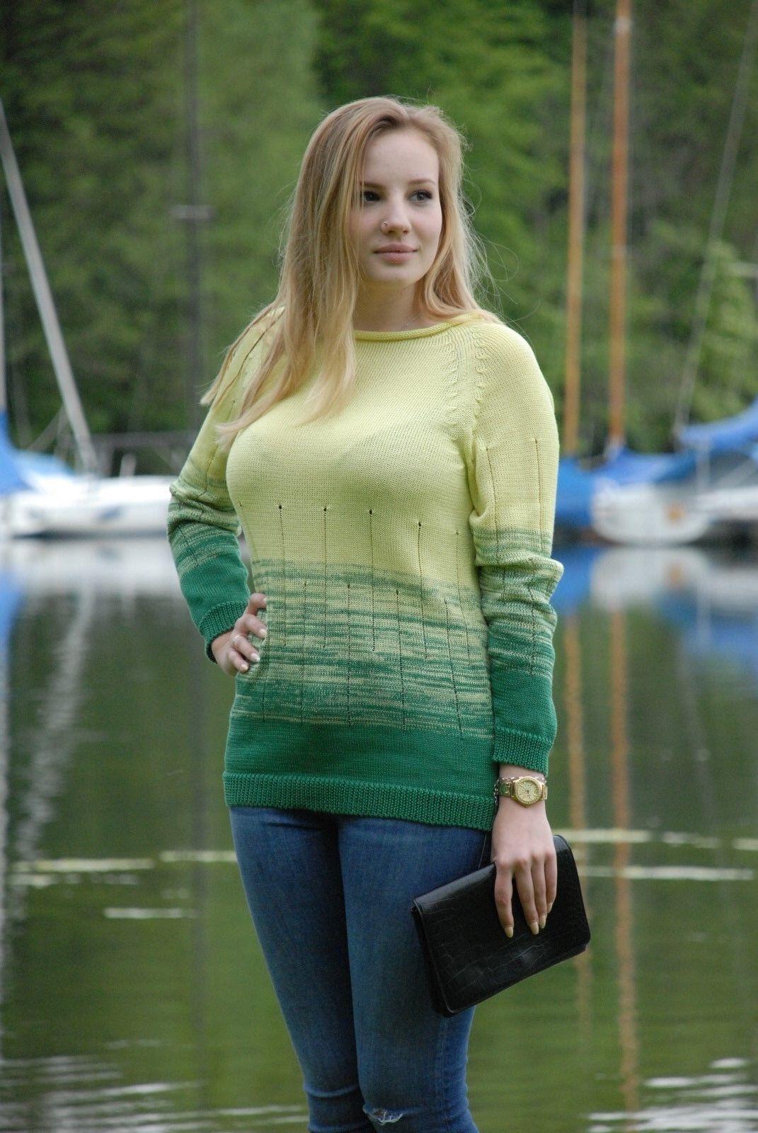 Donna Maglione  Nina  in cotone, tg. 42-44, NUOVO