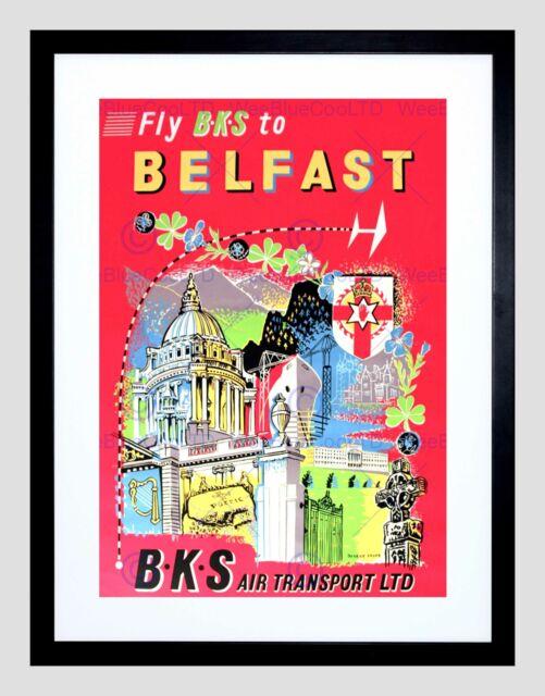 Ireland In Depth Vintage Irish Travel Poster Print Sheep In Meadow Wall Art