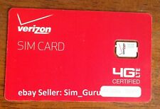Verizon Prepaid  Nano Sim Card with Free First Month $70 included iPhone  •NEW•