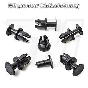 10-x-Remaches-Clips-Cubierta-Para-Mercedes-Benz-gris-oscuro-a1239900092