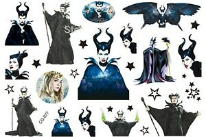 Details About Disney Maleficent Film Fairy Cartoon Temporary Body Tattoo Children S Cg 077