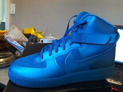 NIKE AIR FORCE 1 HI HYP PRM BNIB BLUE GLOWBLUE GLOW SIZE 15 454433 400 | eBay