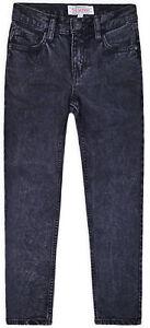 Jean-garcon-boy-Denim-Slim-Stretch-Pantalon-New-Casual-Pantalon-Noir-7-16-ans