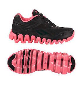 321e273a0ee11f Reebok Shoe Zig Tech Zigenergy Black Pink Gs Big Kids Junior Running ...