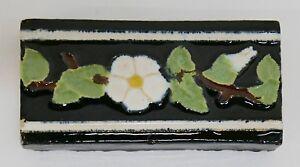 Malibu Floral Trim Stretcher Tile California//Yellow