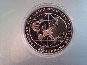 10 Euro Münze 2002 übergang Zur Währungsunion Pp Ebay