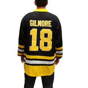 new products 4482f 46f2b Details about Happy Gilmore #18 Black Hockey Jersey Movie Uniform Sweater  Boston Bruins Golf