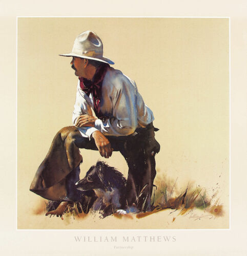 Partnership by William Matthews Western Print 28x29