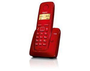 Telefono-Inalambrico-Gigaset-A120-Rojo-Identificacion-Llamadas-Memorias-DECT