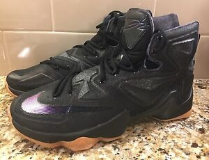 official photos c6a03 cd366 Image is loading NEW-NIKE-MEN-LEBRON-XIII-13-BLACK-LION-