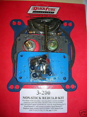 Quick Fuel 3-200  Holley 4160 Carburetor Rebuild Kit 390 600 750 CFM 1850 3310