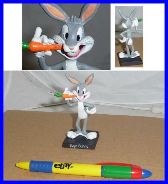 RARE METAL Figure BUGS BUNNY and Carrot Looney Tunes ITALIAN Collection MINT NEW