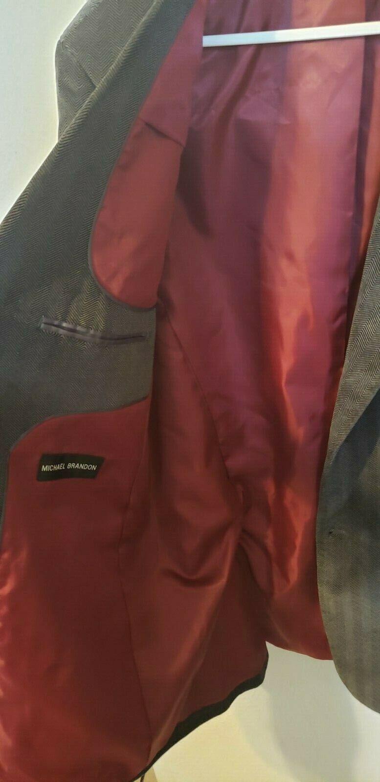 Michael Brandon blazer grey patterned velvet, ou… - image 3