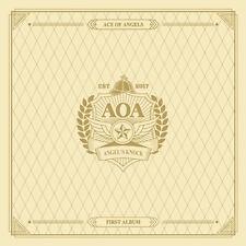AOA-[ANGEL'S KNOCK] 1st Album A Ver CD+64p Photo Book+2p Card+7p Post Card K-POP