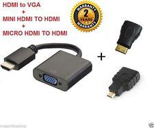 3 in1 HDMI to VGA + Mini + Micro HDMI to HDMI Convertor adaptor cable