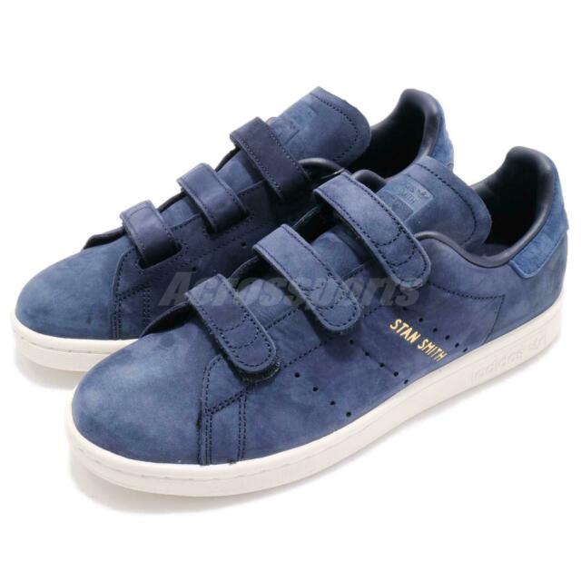 adidas Originals Stan Smith CF W Strap Navy Blue Women Classic Shoes CQ2789