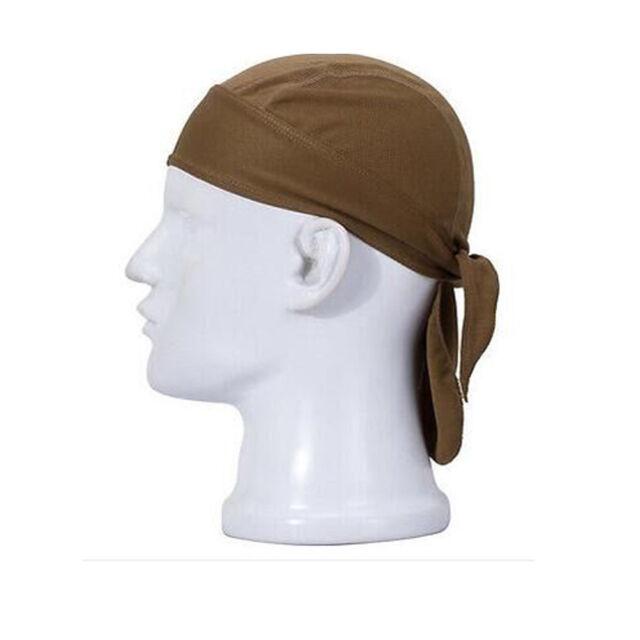 Outdoor Sport Cycling Bike Running Mask Doo Rag Skull Solid Cap Hat US Seller