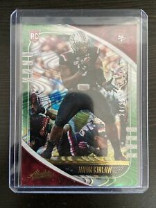 2020-PANINI-ABSOLUTE-JAVON-KINLAW-SPECTRUM-GREEN-WAVE-SSP-35-RC-SAN-FRAN-49ers