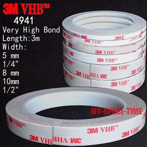 3M-VHB-4941-Double-sided-Acrylic-Foam-Adhesive-Tape-automotive-3-Meters-Long