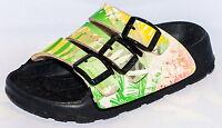 Birki Sandals By Birkenstock For Kids Unisex Sansibar Palm Green Red Narrow
