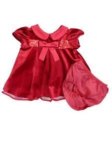 994816983ec Ashely Ann Infant Girls Red Velvety Sequin Party   Holiday Dress ...