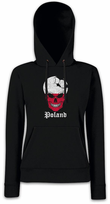 Poland Football Skull I I I Damen Hoodie Kapuzenpullover polnische Flagge Fußball | Hohe Sicherheit  6bfb39