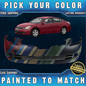 New Painted To Match Front Bumper Cover For 2007 2008 2009 Nissan Altima Sedan Ebay