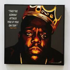 Biggie Smalls canvas quotes wall decals photo painting framed pop art poster