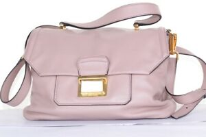 Authentic-Miu-Miu-by-PRADA-Dusky-Mauve-Cow-Leather-Handbag-Satchel-Shoulder-Bag