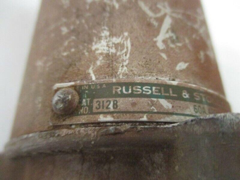 RUSSELL STOLL 3128 PLUG WEATHERTIGHT 60 AMPS  USED