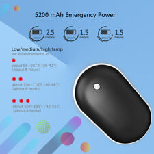 Details about  /5200mAh Rechargeable Pocket Hand Warmer Heater USB Charger Electric Power Black