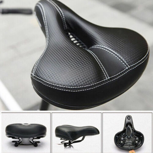 NEW Dual-spring Bike Bicycle Wide Big Bum Soft Extra Comfort Saddle Seat Pad