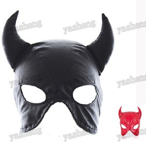 Faux-Leather-cat-woman-dominatrix-mask-hood-head-gear-restraint-Roleplay-2-color