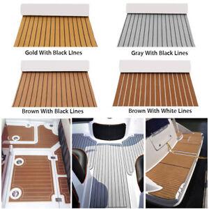 90x240cm-EVA-Teak-Carpet-Adhesive-Foam-Boat-Yacht-Nautical-mat