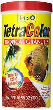 TETRA COLOR BITS TROPICAL GRANULES 10.58 OZ  FISH FOOD TETRACOLOR FREE SHIP USA