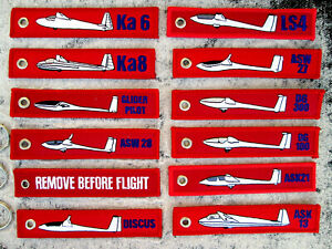 3er-SET-REMOVE-BEFORE-FLIGHT-Segelflugzeug-YAKAiR-Avion-Glider-Motor-Segler