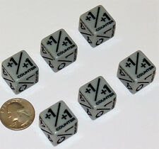 6x mtg dice counters +1/+1 and creatures: Magic the GatheringTOKENS2017 LG 19mm
