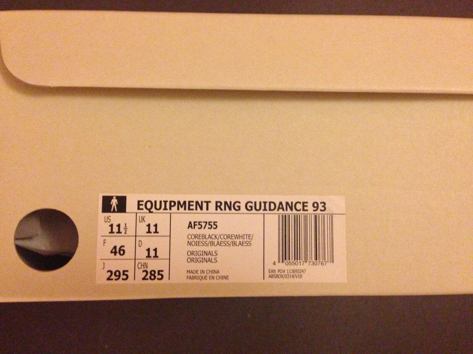 Adidas Equipment RNG Guidance 93 x box SNS EQT new in box x   11,5 UK 11 FR 46  31734a