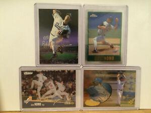 LOT-OF-4-HIDEO-NOMO-insert-parallel-chrome-UD3-cards-LA-Dodgers-Los-Angeles-NM