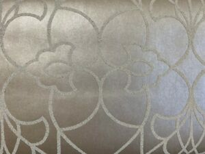 Wallpaper Designer Candice Olson Modern Luxe Sanded Bead Pirouette Trellis Taupe