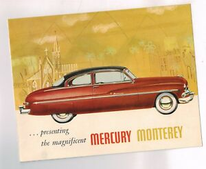Sporting 1950 { 6-50 Issue } Mercury Monterey Broschüre/broschüre Auto & Motorrad: Teile