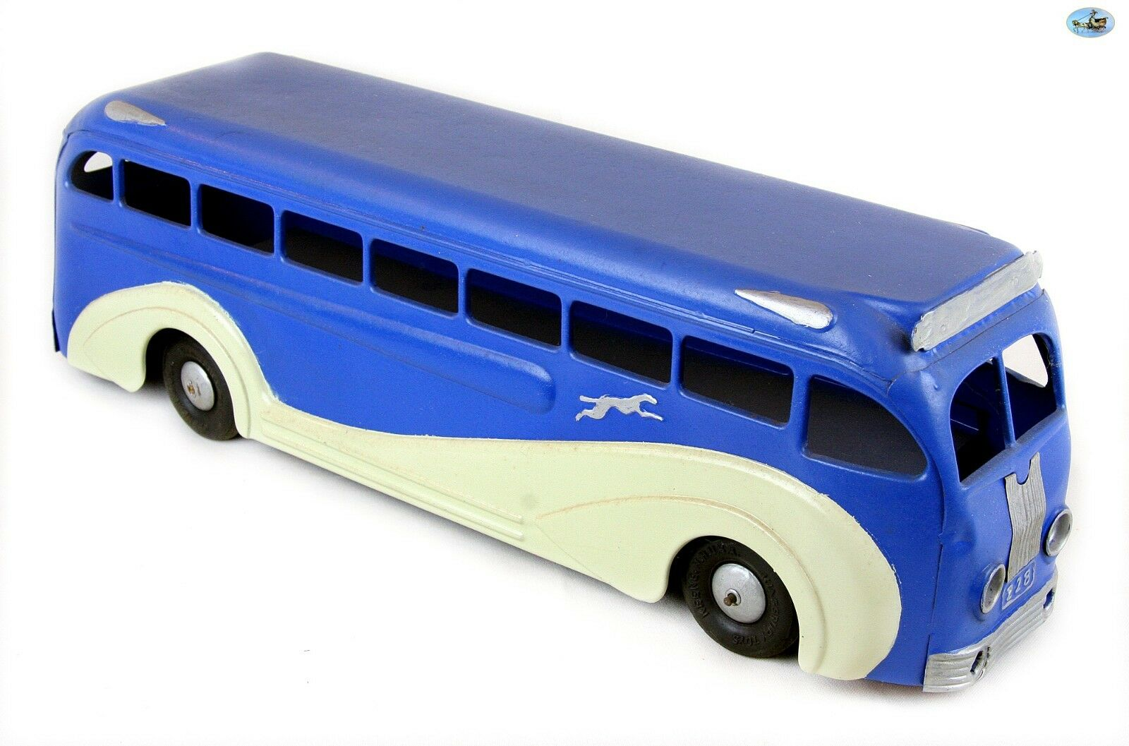 Awesome Vintage Large Restorosso KEENE N.H Station - U.S.A grigiohound Bus Toy