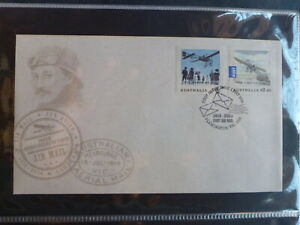 AUSTRALIA-2014-CENTENARY-OF-AIRMAIL-SET-2-STAMPS-FDC-FIRST-DAY-COVER