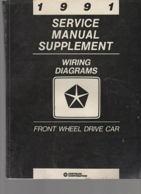 1991 Service Manual Supplement Wiring Diagrams Front Wheel Drive Car